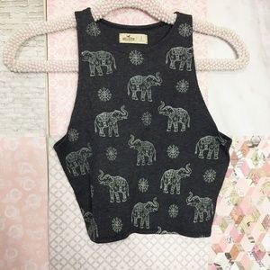 Hollister | EUC Elephant Fitted Crop Tank Top